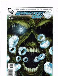 Brightest Day # 24 NM 1st Print VARIANT DC Comic Book Swamp Thing Lantern LH16