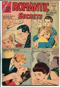 Romantic Secrets #47 1960-Charlton-4 panel cover-bride story-FN