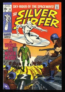 Silver Surfer #10 FN/VF 7.0 White Pages