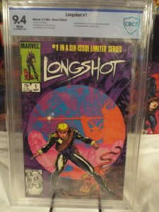 Longshot #1 - CBCS 9.4 - NM White Pages - 1st Appearance of Longshot