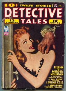 Detective Tales Pulp April 1943- Day Keene- William R Cox