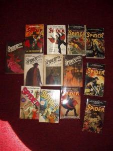 THE SPIDER - PULP PAPERBACK 13 BOOK LOT- STOCKBRIDGE FN