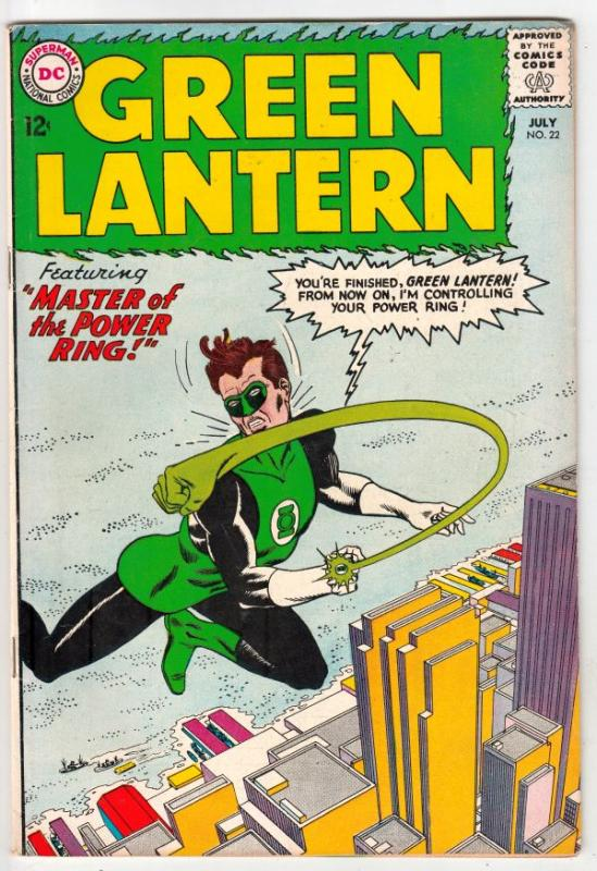 Green Lantern #22 (Jul-63) VG- Low-Grade Green Lantern, Pie Face