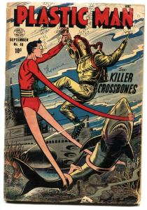 Plastic Man #48 1953-SHARK COVER-Golden Age G