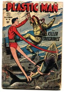 Plastic Man #48 1953-SHARK COVER-Golden Age G