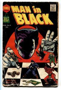 MAN IN BLACK #4-1958-HARVEY-HORROR ART-BOB POWELL-CLASSIC COVER-good-