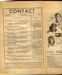 Contact Pulp #1 August 1933- coverless reading copy