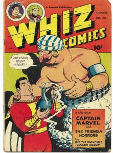 Whiz Comics #126 Fawcett Publications 1950 Captain Marvel Shazam CC Beck