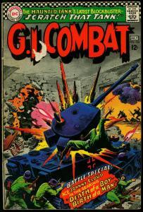 GI Combat #124 - Haunted Tank- DC Silver Age War Comic VG-