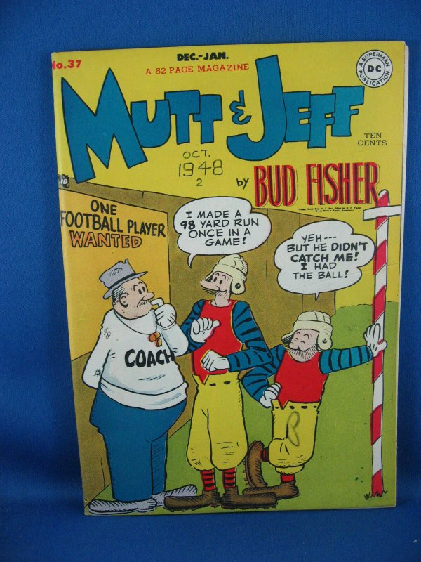 MUTT AND JEFF 37 VF- 1948 DC Football Cover