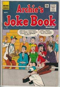 Archie's Joke Book # 73 Strict FN/VF Mid-High-Grade Cover Baseball, Moose