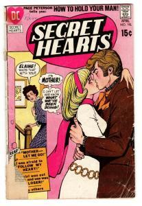 SECRET HEARTS #151 1971-DC ROMANCE-VG-MOTHER LET ME GO!