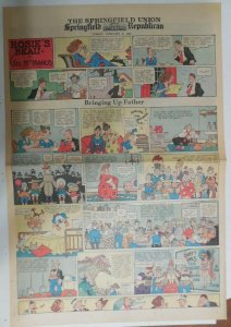 Bringing Up Father Sunday by George McManus from 2/8/1942 Full Page Size!