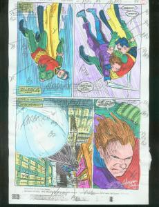ORIGINAL D.C. COLOR GUIDE ROBIN ANNUAL #2 PG 61-SIGNED VG
