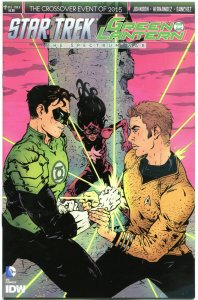 STAR TREK GREEN LANTERN #2 A, NM, Spock, Kirk, War, 2015, IDW, more in store