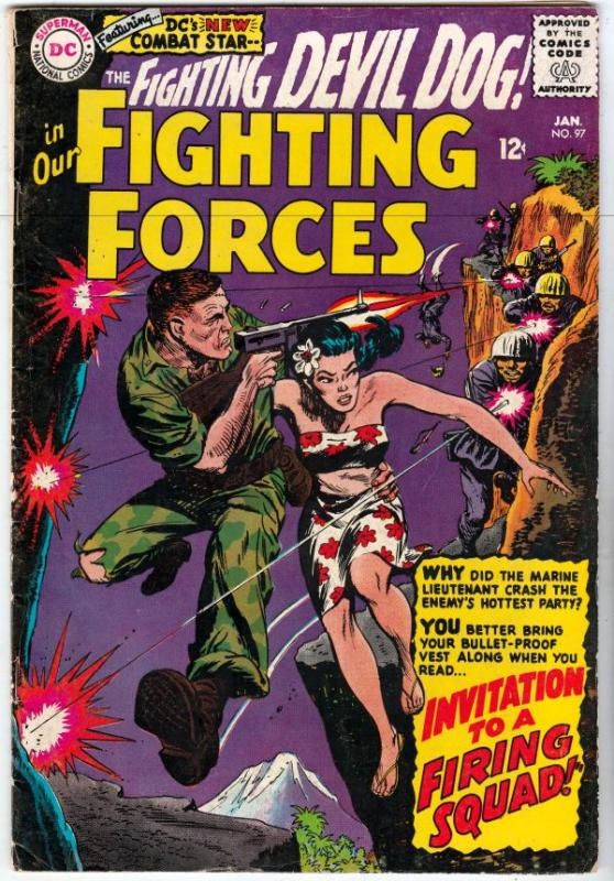 Our Fighting Forces #97 (Jan-66) FN/VF Mid-High-Grade Lt. Larry Rock, the Fig...