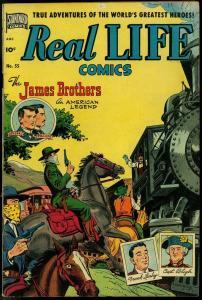 Real Life Comics #55 1951- Jesse James- Flying Saucer VG/F