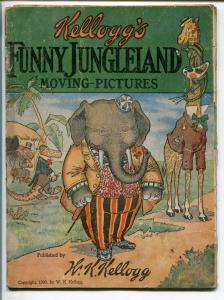 FUNNY JUNGLELAND MOVING-PICTURES 1909-KELLOGG-FLIP PAGES-FUNNY ANIMALS-fr/good