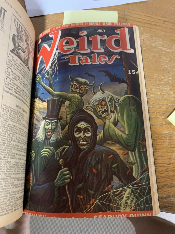 Pulp Collelected Bound John Thunstone Weird Tales 37 43 44 51 Manly Wade Wellman