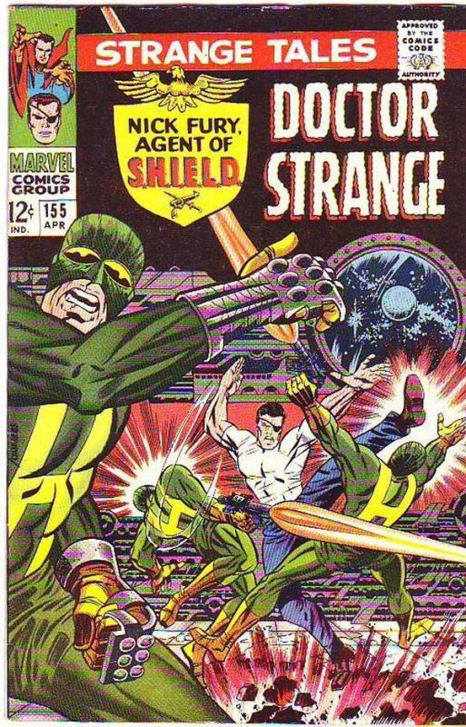 Strange Tales 155 strict VF- 1967 Nick Fury Agent Of S.H.I.E.L.D. Steranko Art