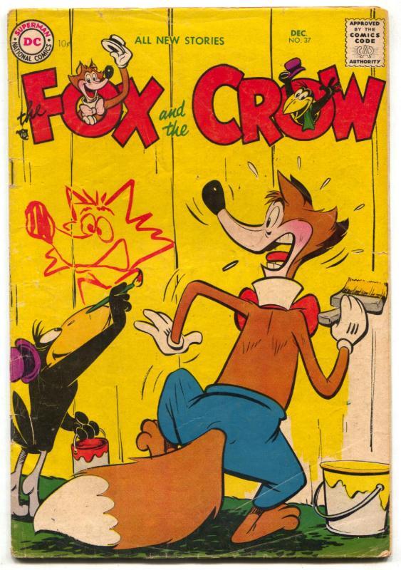Fox and the Crow #37 1956- DC Funny Animal comic VG