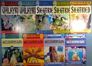 Lot of 9 Ring of the Nibelung Comics Valkyrie Siegfried Gotterdammerung