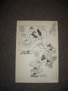WILLARD MULLIN ORIGINAL SPORTING NEWS ART-BASEBALL-RARE VG