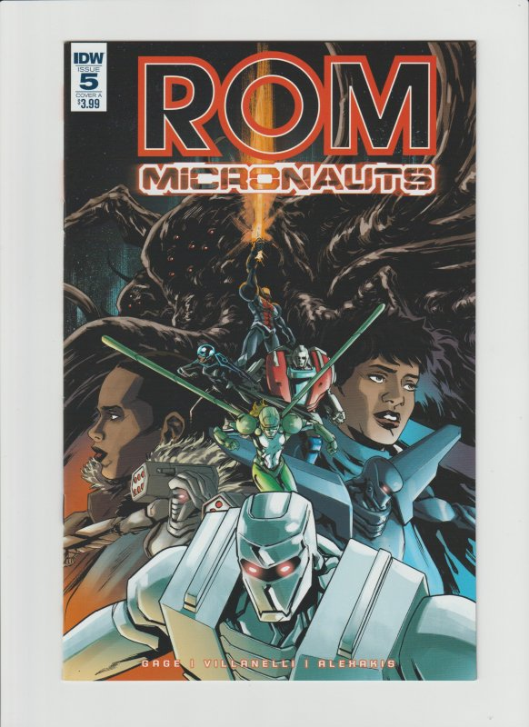 Rom Micronauts #5 NM 9.0 IDW Comic Cover by Paolo Villanelli