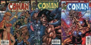 CONAN DEATH COVERED IN GOLD (1999) 1-3 Thomas & Buscema