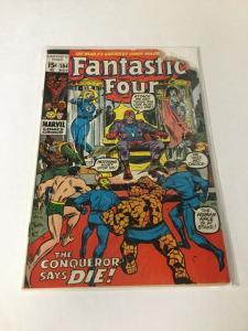 Fantastic Four 104 Gd- Good- 1.8 Qualified Mouse Chew Marvel Comics