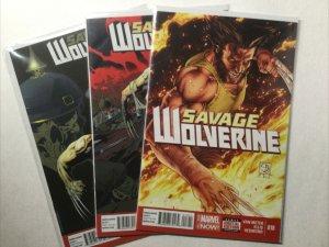 Savage Wolverine 18 21 22 Lot Run Set Near Mint Nm Marvel