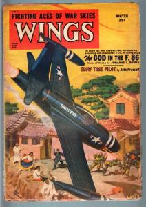 WINGS WINT 1952 JET ATTACKS VILLAGE-AVIATION PULP G/VG