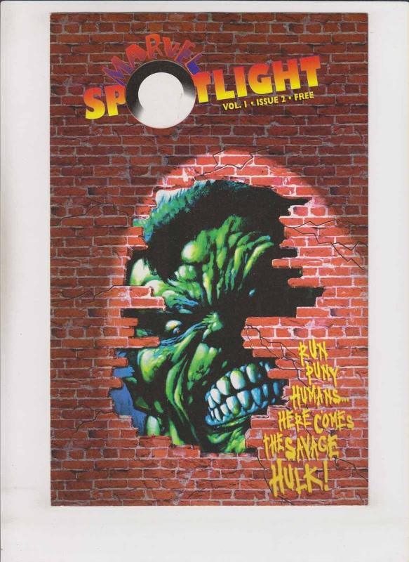 Marvel Spotlight vol. 1 #2 VF/NM simon bisley cover - savage hulk - rare promo