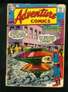 ADVENTURE #243 1957-SUPERBOY-GREEN ARROW-AQUAMAN-DC COMICS-bargain copy FR