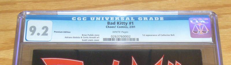 Bad Kitty #1 CGC 9.2 premium edition variant - chaos comics - limited to 3,000