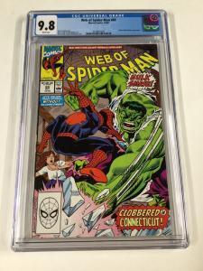 Web Of Spider-man 69 Cgc 9.8 White Pages Marvel Spider-Hulk