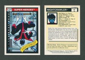 1990 Marvel Comics Card  #38 (Nightcrawler) / MINT