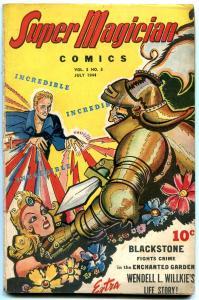Super Magician Vol 3 #3 1944- Blackstone- Wendel L Willkie- GGA G/VG