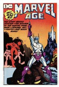 Marvel Age #1 comic book 1983-Marvel-Crystar-Walt Simmons-NM-
