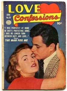 Love Confessions #20 1952- Golden Age Romance- Bill Ward G/VG