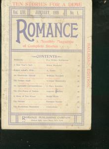 ROMANCE PULP 1895 JAN - RARE RAILROAD EDITION  FICTION G/VG