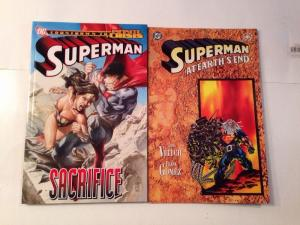 Superman Sacrifice Tpb And At Earths End Near Mint Lot Set Run