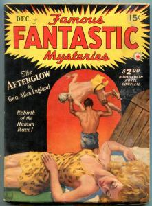 Famous Fantastic Mysteries Pulp December 1941-Great cover- George Allan England