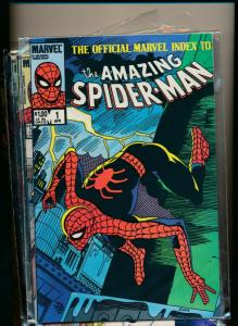 MARVEL set of 9- OFFICIAL INDEX TO THE AMAZING SPIDER-MEN #1-#9 1985 VF (PF742)
