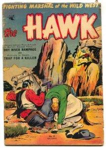 Hawk #8 1954- Matt Baker cover- St John Golden Age VG-