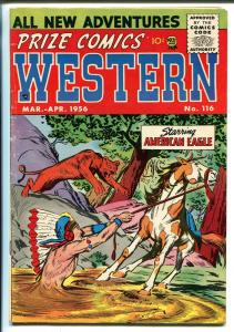 Prize Comics Western  #116 1956-Modest Stein-Mort Meskin-Indian stories-VG/FN