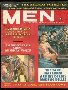 MEN MAGAZINE OCT 1961-NAZI CROWNS BABE COVER-CHEESECAKE FN/VF