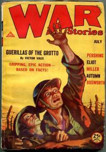 War Stories Pulp July 1931- Foxhole cover- John J Pershing G/VG