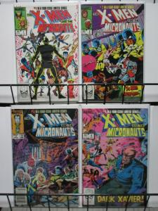 X MEN & MICRONAUTS 1-4 Mutants VS Toys 1984