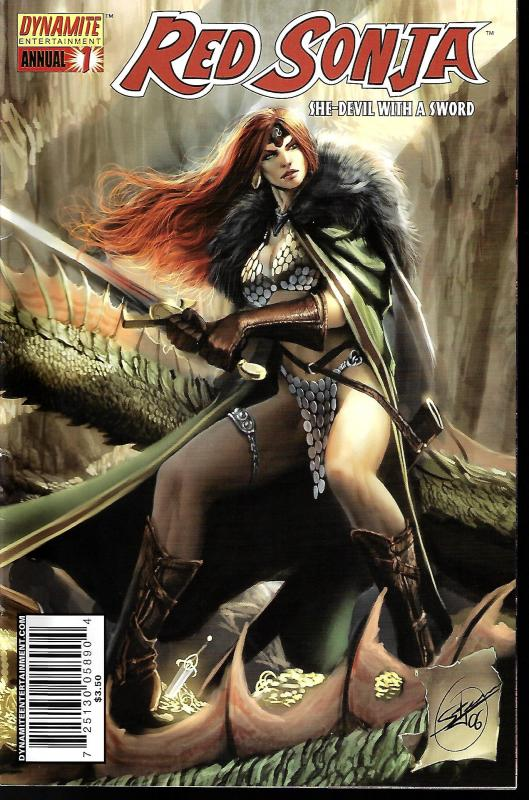 Red Sonja #1 Annual (Dynamite Entertainment) - Stjephan Sejic Cover